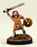 VNT13-02: Skeleton in armour with Sword and Shield.  Pro-Painted Undead-Ready to Ship