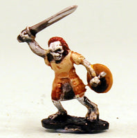VNT13-02: Skeleton in armour with Sword and Shield-Unbased.  Pro-Painted Undead-Ready to Ship