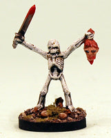 VNT13-04: Skeleton with Sword and Severed Head.  Pro-Painted Undead-Ready to Ship