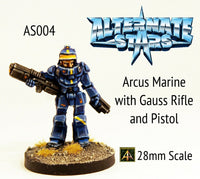AS004 Arcus Marine with Gauss Rifle and Pistol