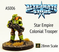 AS006 Star Empire Colonial Trooper with Rifle