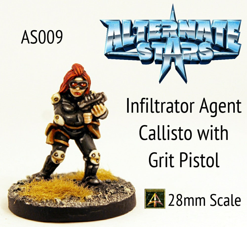 AS009 Infiltrator Agent Callisto with Grit Pistol