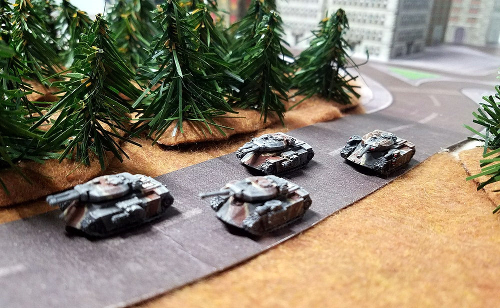 BR004 Hunter Medium Tank Section - 4 Vehicle Pack