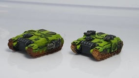 BR005 Nemian Assault Tank Section- 4 Vehicle Pack