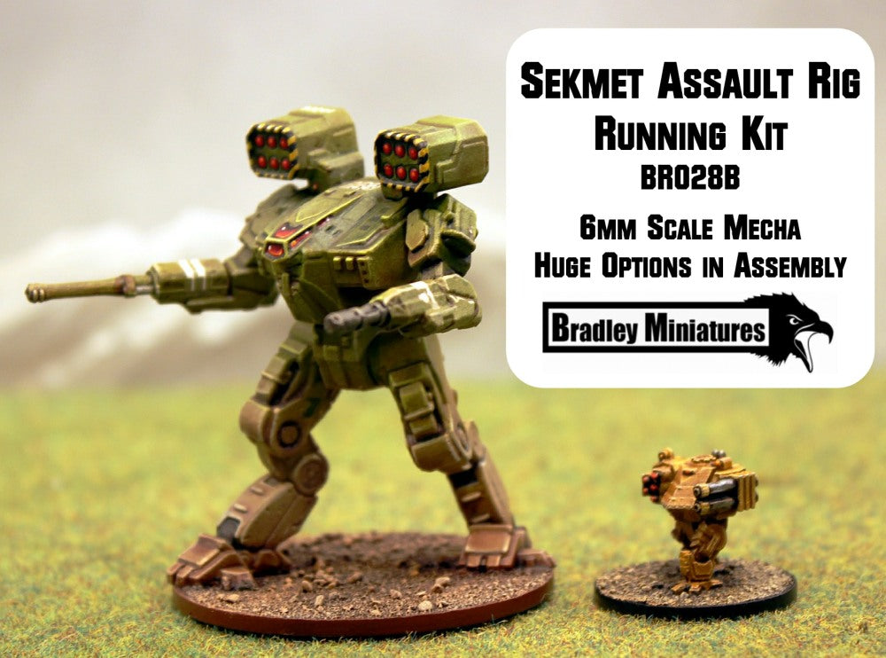 BR028B Sekhmet Assault Rig Running (Mecha approx 50mm tall) - Many loadout choices