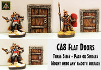 CA8 Flat Doors (Three 28mm scale sizes choose your Doors)