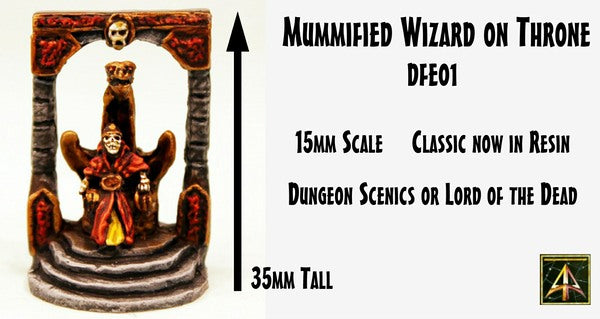 DFE01 Mummified Wizard on Throne