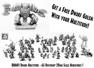 DHM01 Dwarf Multitude with DH15 Dwarf Golem worth 20.00GBP Free!