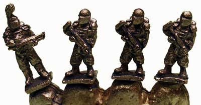 FF1801 6mm Muster Command - 4 Miniatures