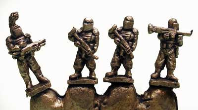 FF1802 6mm Muster Troopers - 4 Miniatures