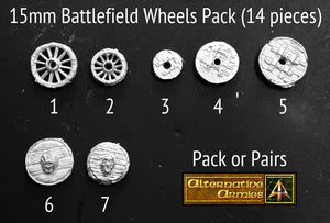 FMS05 15mm Battlefield Wheels Pack