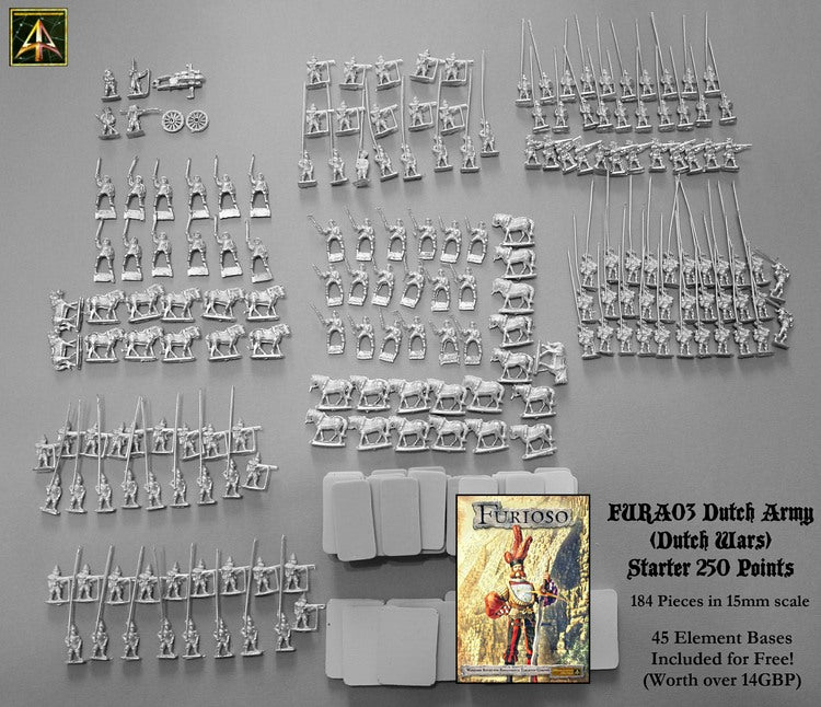 FURA03 Dutch Army of Dutch Wars (250 Point Starter Army with free bases)