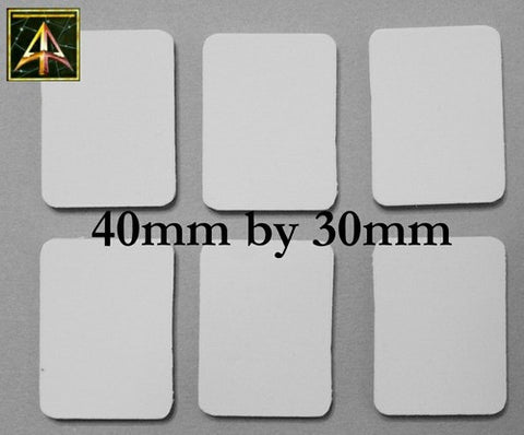 59020 20mm Square Resin Cartouche Bases (40)