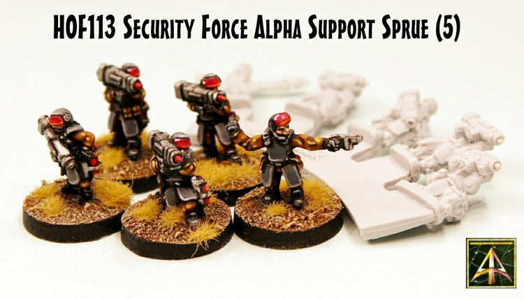 HOF113 Security Force Alpha Support Sprue - 25 miniatures just 10GBP