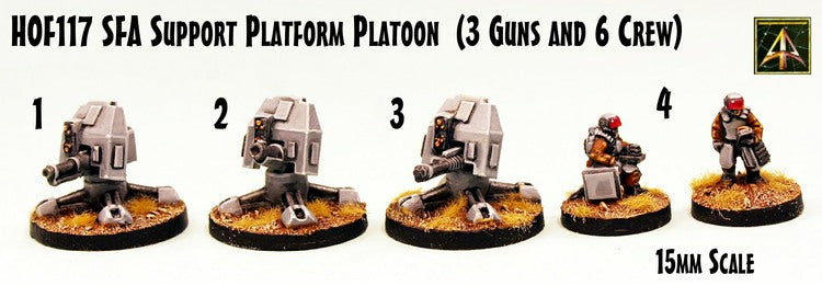HOF117 SFA Support Platform Platoon (pack or singles)