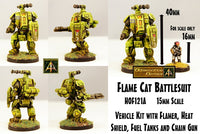 HOF121A Fire Cat Battlesuit (One Kit)