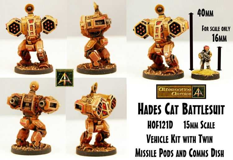 HOF121D Hades Cat  Battlesuit (One Kit)