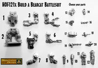 HOF121X Build a Bear Cat Battlesuit parts selector