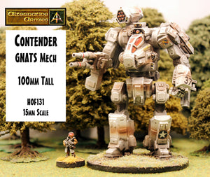 HOF131 Contender GNATS Mech (100mm tall) - First 100 Sold get a free Meerkat Spotter Suit