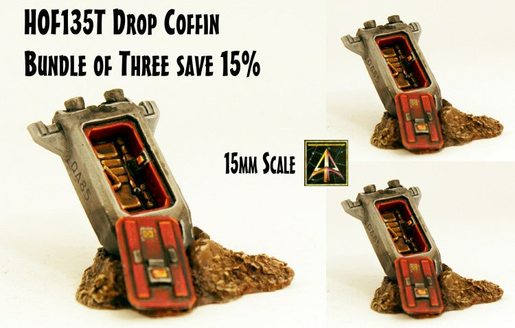 HOF135T Drop Coffin - Bundle of three save 15%