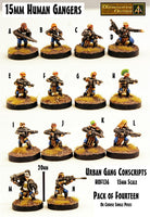HOF136 Urban Gang Conscripts (Fourteen Poses pack or singles)