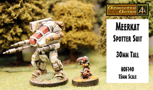 HOF140 Meerkat Spotter Suit (One free with the first 100 HOF131 Contender GNATS Mechs sold)