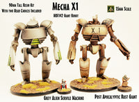 HOF142 Mecha X1 (Kit with two different heads)  90mm tall