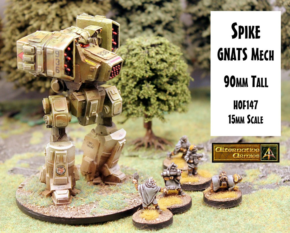 HOF147 Spike GNATS Mech (90mm tall)