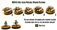 HOF153 Grey Alien Portable Weapon Platform with Crew (5 Weapon Options included)