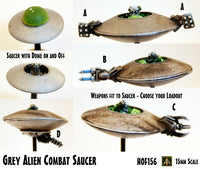 HOF156 Grey Alien Combat Saucer (Saucer Kit with Five Weapons to mount as you please)