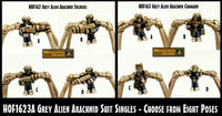 HOF1623A Grey Alien Arachnid Singles (Choose from Eight Poses)