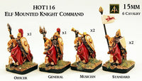 HOT116 Elf Mounted Knight Command (6 Cavalry)
