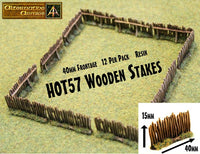 HOT57 Wooden Stakes now in resin 40mm Frontage - 480mm Frontage per pack