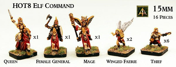 HOT8 Elf Command now with resin horses
