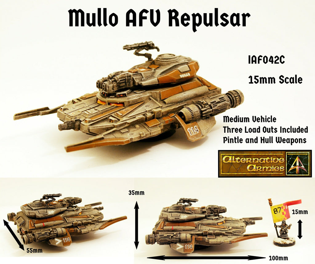 IAF042C Mullo AFV Repulsar with three turret load outs