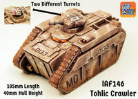 IAF146 Tohlic Armoured Crawler with two different turrets (105mm long kit!)