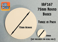 IAF167 75mm Round Bases (For Patrol Angis)