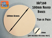 IAF168 100mm Round Bases (For Patrol Angis)