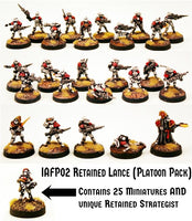 IAFP02 Retained Lance  (Platoon Pack) - Includes free extra unique miniature!