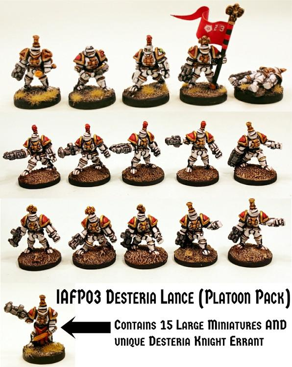 IAFP03 Desteria Lance  (Platoon Pack) - Includes free extra unique miniature!