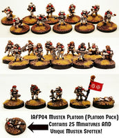 IAFP04 Muster Platoon (Platoon Pack) - Includes free extra unique miniature!