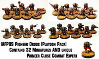 IAFP09 Pioneer Ordos (Platoon Pack) - Includes free extra unique miniature!