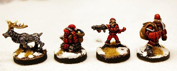 Chrimbo Set! Four 15mm Christmas Characters