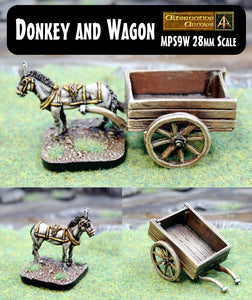 MPS9W Donkey and Wagon
