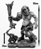 OH31 Durzum Dwarf Killer - Giant Troll (100mm tall) with free Orc Warrior!