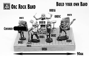 ORB Orc Rock Band in 28mm scale - Select your Band Parts