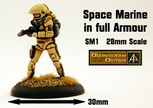 SM1 Space Marine in full armour