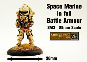 SM3 Space Marine in full battle armour