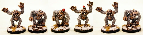 SN03 Abominable Snow Monsters (optional Xmas Hats)