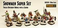 SN2020 Snowmen Super Set (28mm scale) (Set of 12 with Saving)
